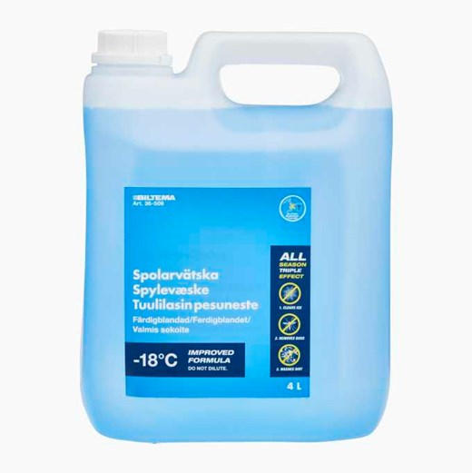 Ready-mixed windscreen washer fluids